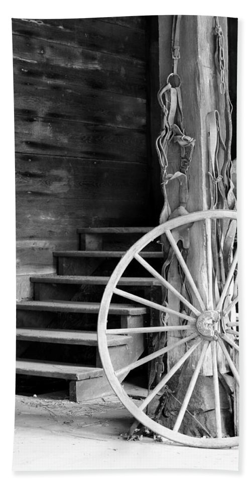 Wagon Wheel Hand Towel featuring the photograph Vintage Scene by Michelle Joseph-Long