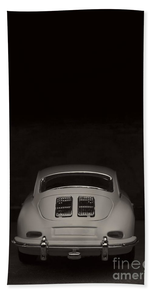 Diecast Hand Towel featuring the photograph Vintage Sports Car by Edward Fielding