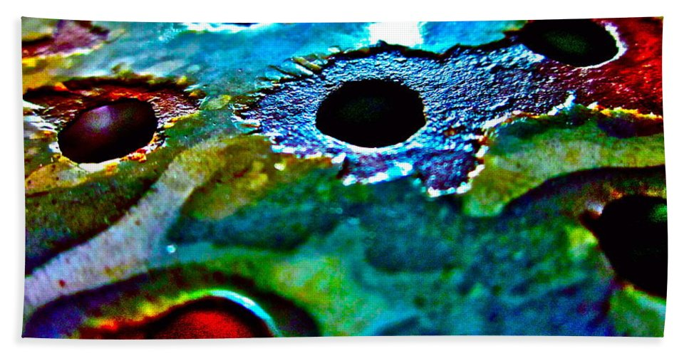 Photograph Of Strainer Bath Sheet featuring the photograph Vintage Strainer Three by Gwyn Newcombe