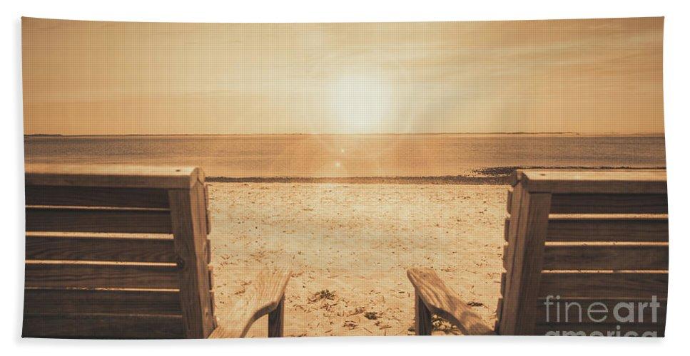 Sunrise Hand Towel featuring the photograph Vintage Sunrise by Robert Anastasi