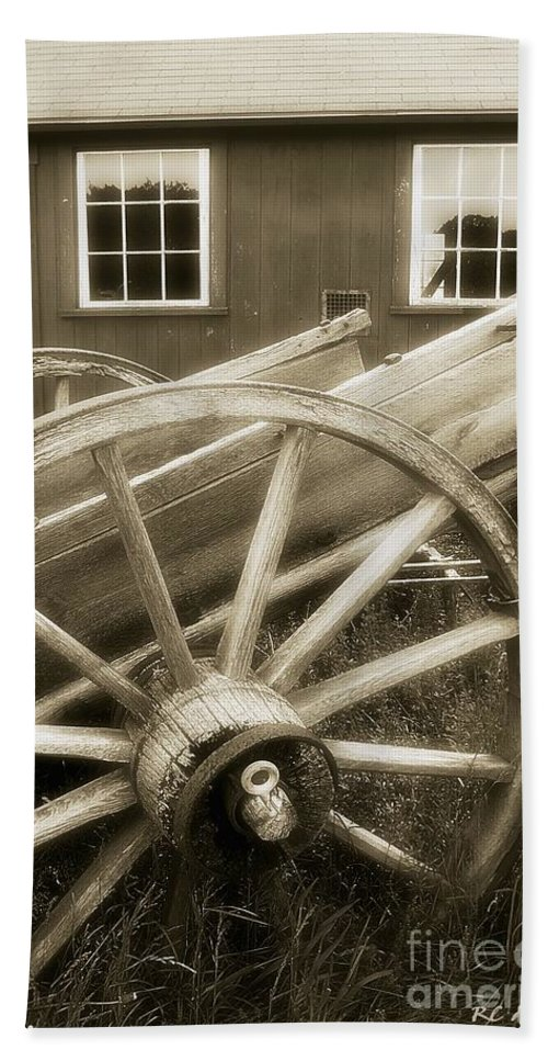 Barn Bath Sheet featuring the photograph Vintage Tableau by RC DeWinter