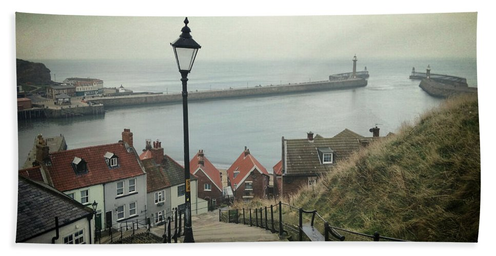 Whitby Bath Sheet featuring the photograph Vintage Whitby by Sarah Couzens