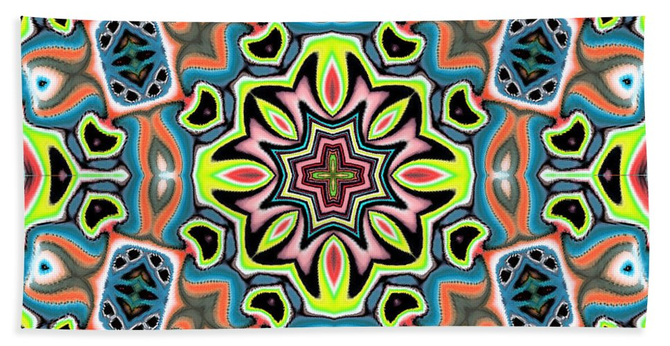 Jungle Hand Towel featuring the digital art Vinxy by Blind Ape Art