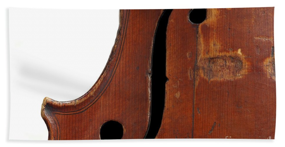 Fiddle Bath Sheet featuring the photograph Violin Clef by Michal Boubin