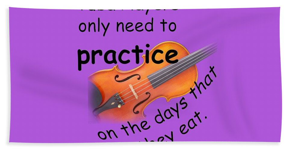 Violin Hand Towel featuring the photograph Violins Practice When They Eat by M K Miller