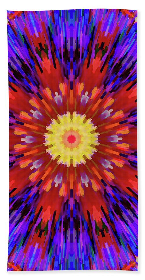 Mandala Art Hand Towel featuring the painting Virtuous by Jeelan Clark