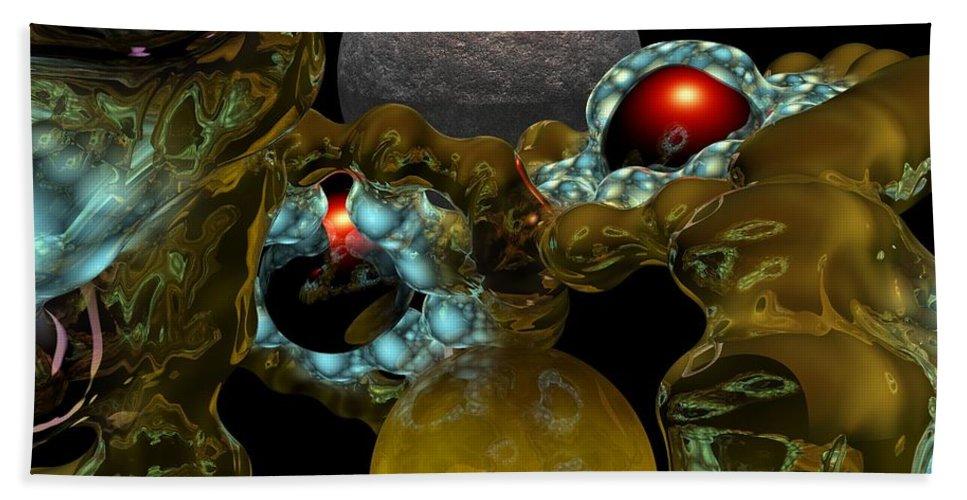 Space Hand Towel featuring the digital art Virus by David Lane