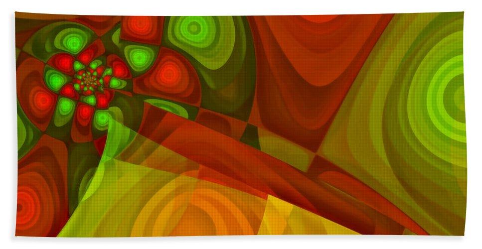 Fractal Bath Sheet featuring the digital art Vision Of Joy by Jutta Maria Pusl