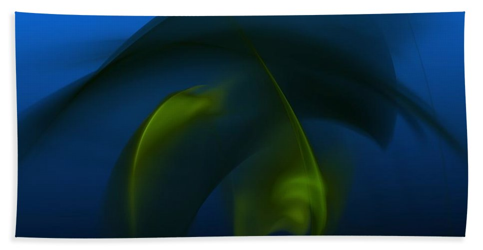 Digital Painting Hand Towel featuring the digital art Visitors From The Deep by David Lane