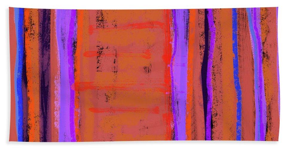 Line Bath Sheet featuring the painting Visual Cadence Xix by Julie Niemela