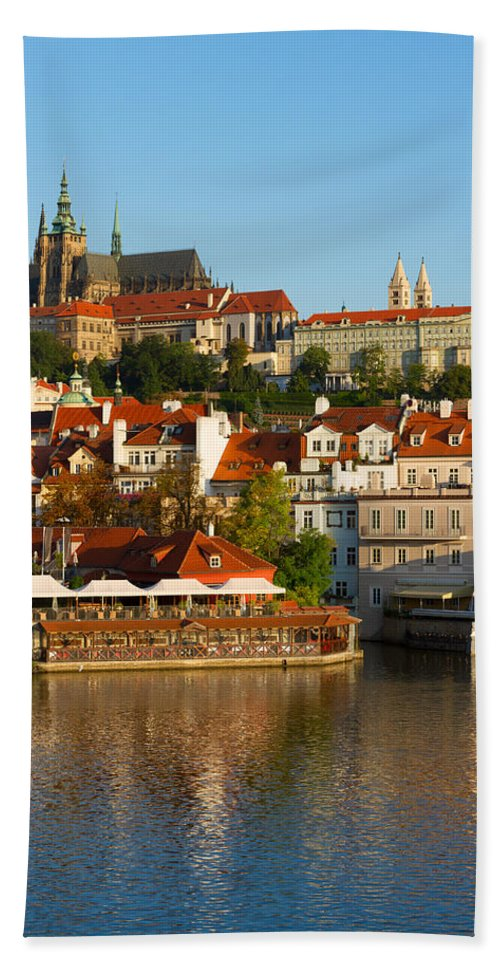 Prague Hand Towel featuring the photograph Vitus Cathedral Over Vltava by Anastasy Yarmolovich