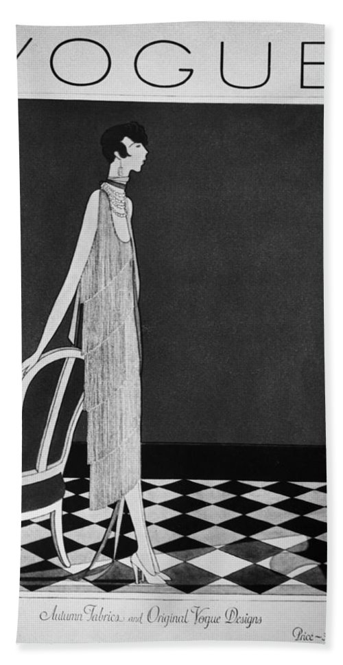 1925 Bath Sheet featuring the photograph Vogue Magazine, 1925 by Granger