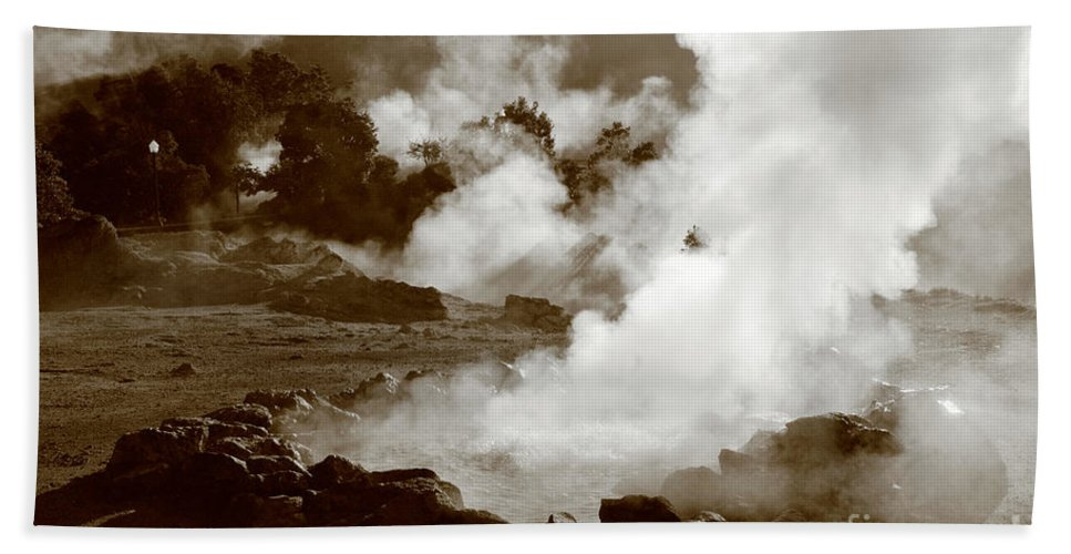 Azores Hand Towel featuring the photograph Volcanic Steam by Gaspar Avila