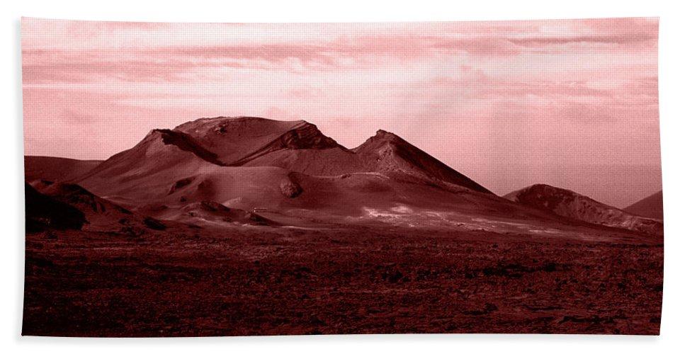 Lehtokukka Hand Towel featuring the photograph Volcano 3 by Jouko Lehto
