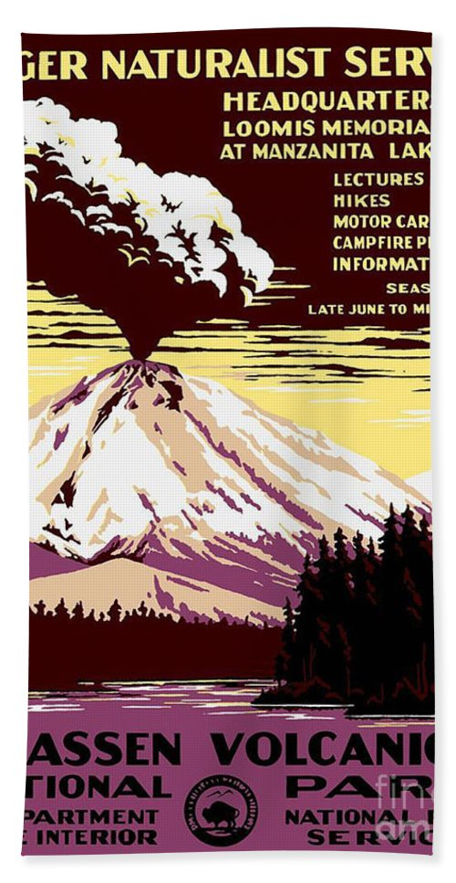 Volcano Hand Towel featuring the painting Volcano by Pd
