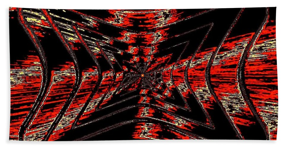 Abstract Hand Towel featuring the digital art Voltage by Will Borden