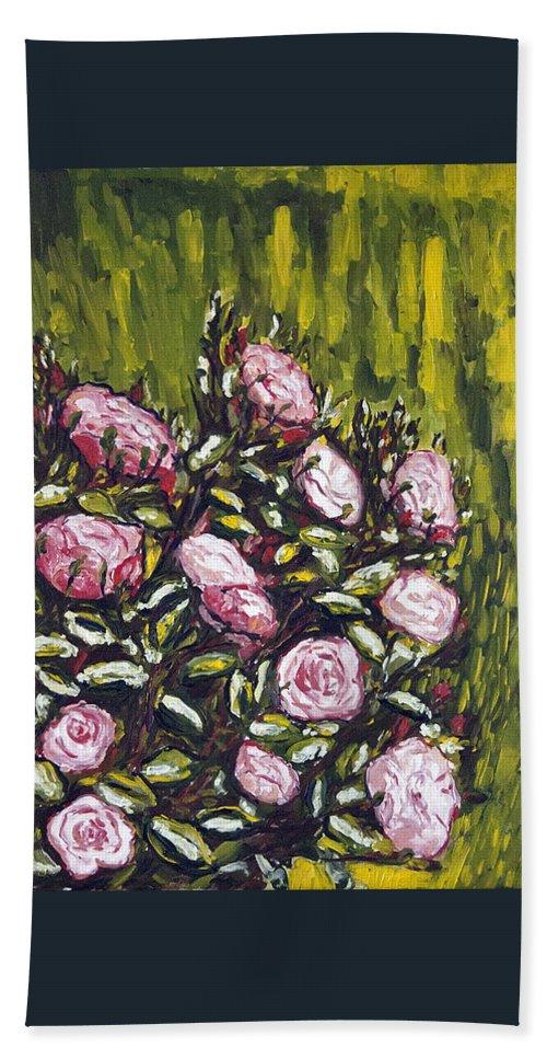 Landscape Hand Towel featuring the painting Vonave Ruze by Pablo de Choros