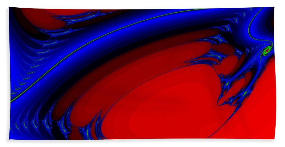 Clay Bath Sheet featuring the digital art Vortex Extreme Fractal by Clayton Bruster