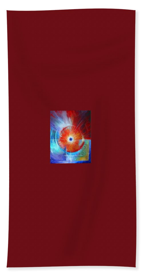 Clouds Hand Towel featuring the painting Vortex by James Christopher Hill