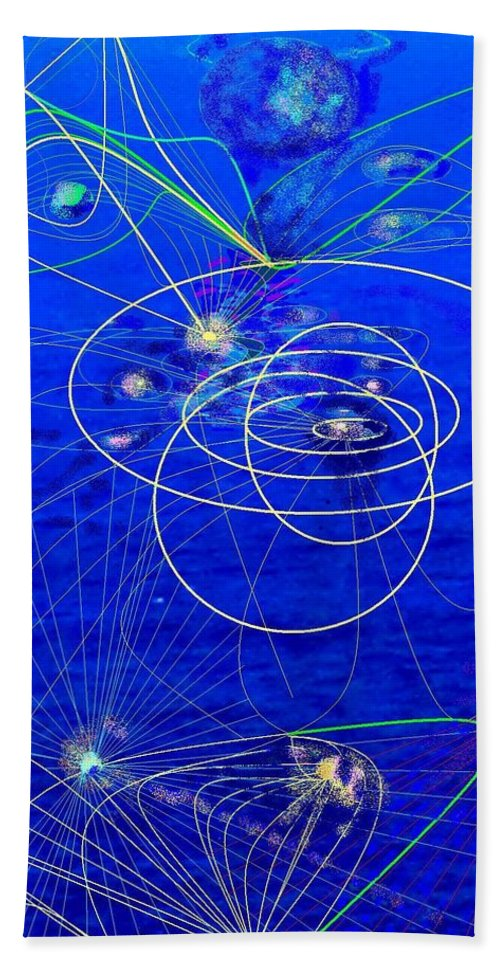 Abstract Hand Towel featuring the digital art Voyage by Ian MacDonald
