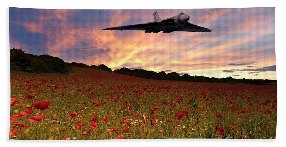 Avro Hand Towel featuring the digital art Vulcans End by J Biggadike
