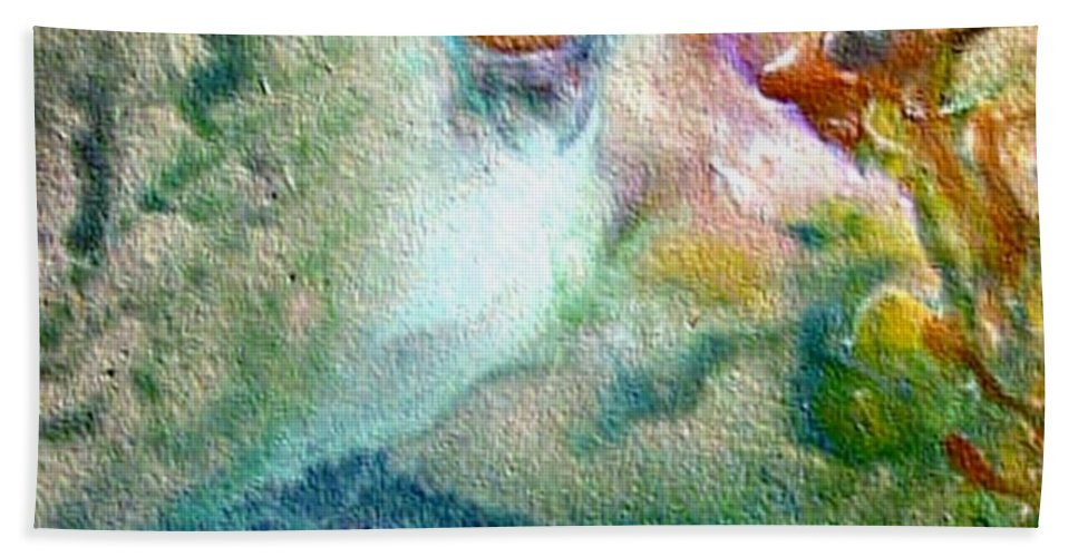 Encaustic Painting Hand Towel featuring the painting W 023 by Dragica Micki Fortuna