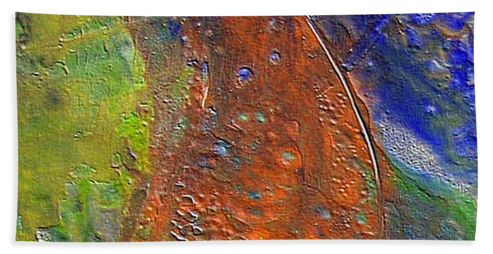 Abstract Hand Towel featuring the painting W 028 by Dragica Micki Fortuna