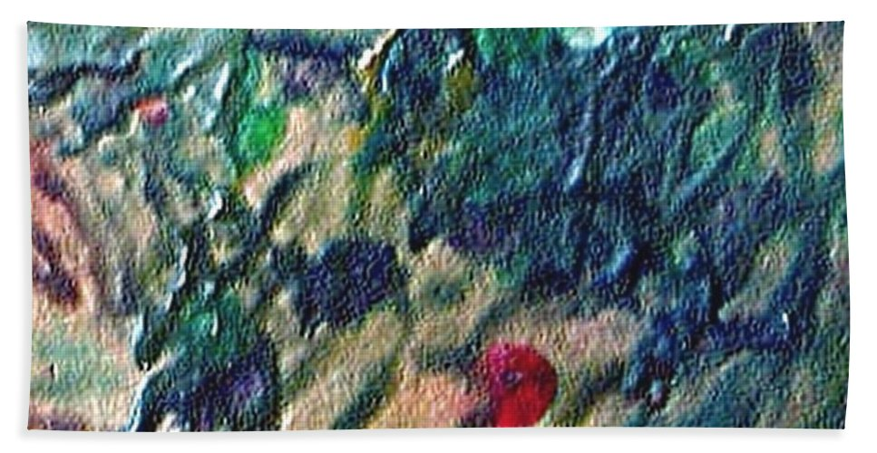 Abstract Hand Towel featuring the painting W 032 by Dragica Micki Fortuna