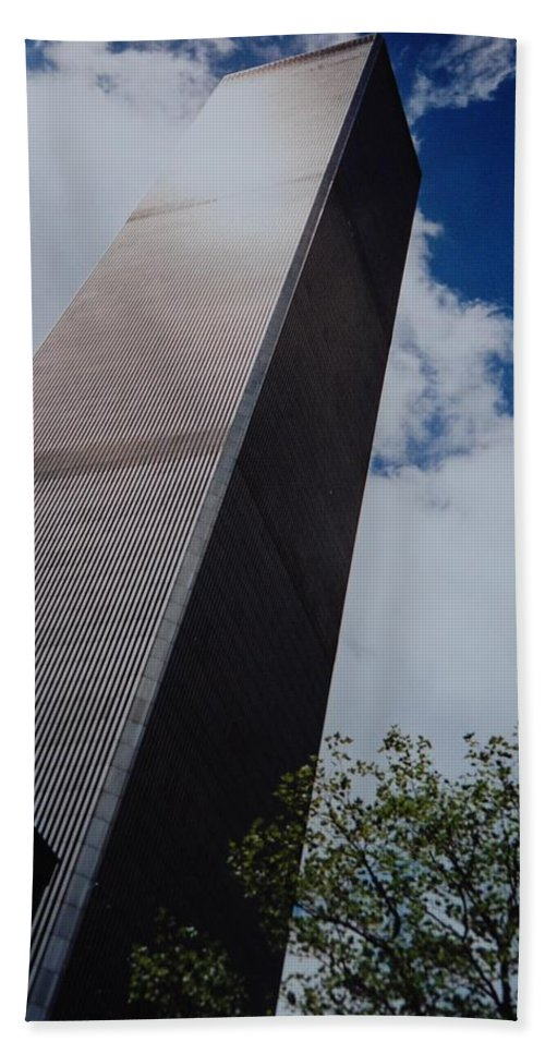 Wtc Bath Sheet featuring the photograph W T C 1 And 2 by Rob Hans