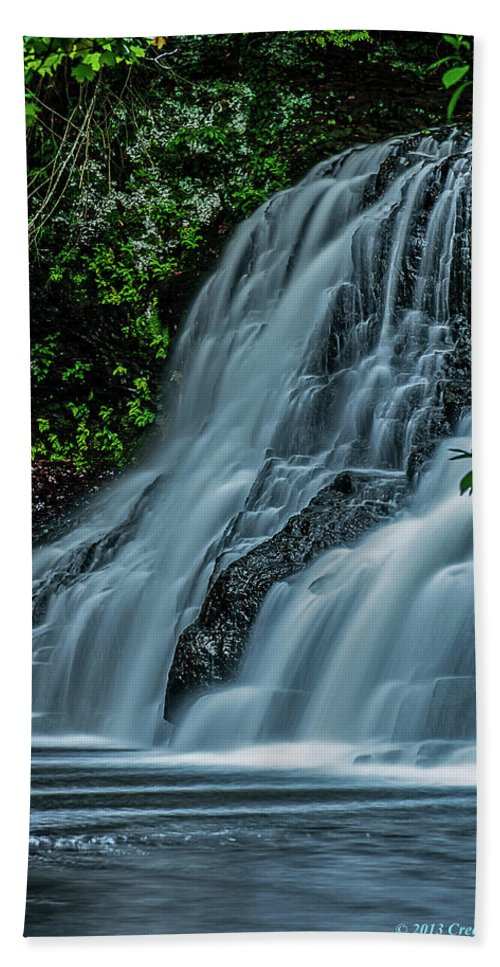 Wadsworth Falls 4 Bath Sheet featuring the photograph Wadsworth Falls 4 by Warren Towler