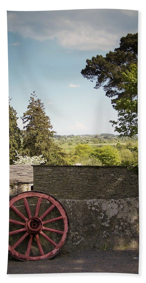 Irish Bath Sheet featuring the photograph Wagon Wheel County Clare Ireland by Teresa Mucha