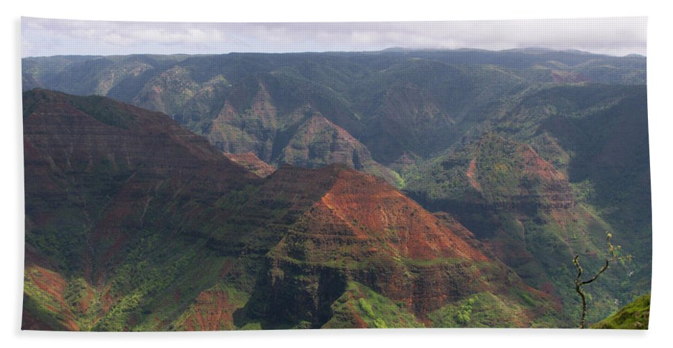 Phil Welsher Hand Towel featuring the photograph Waimea Canyon 2 Kauai by Phil Welsher