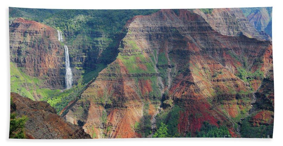 Waimea Canyon Bath Sheet featuring the photograph Waimea Canyon Kauai by Janine Claire