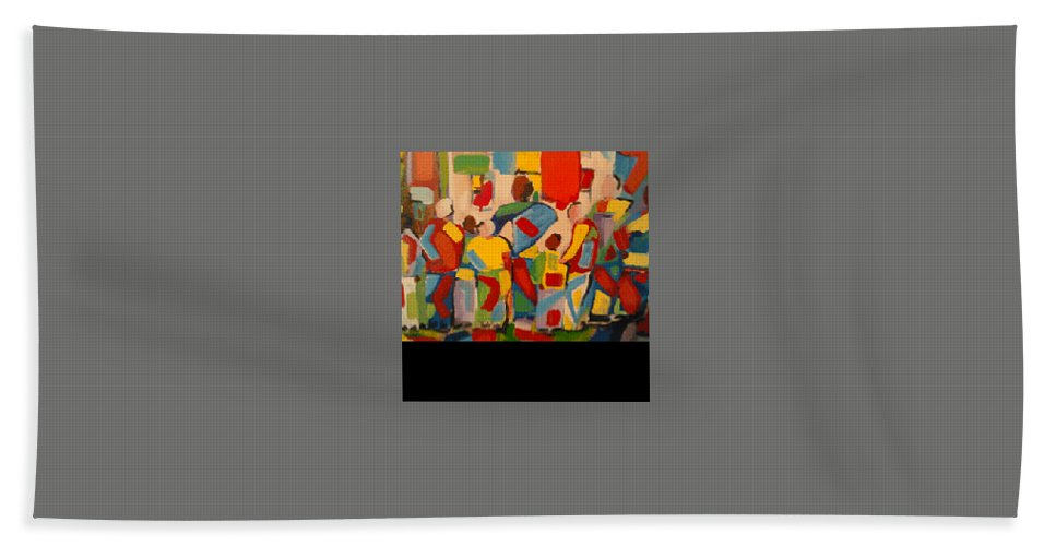 Hand Towel featuring the painting Waiting by Bethany Hannigan