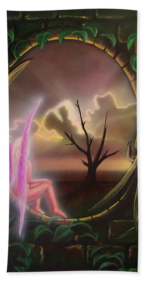 Fairy Hand Towel featuring the painting Waiting For Spring by Shaun McNicholas