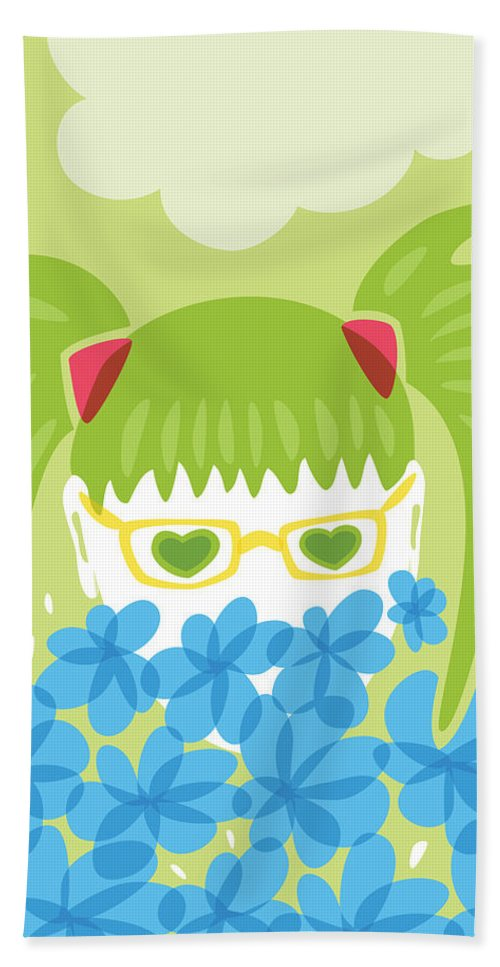 Spring Hand Towel featuring the digital art Waiting For Spring by Boriana Giormova