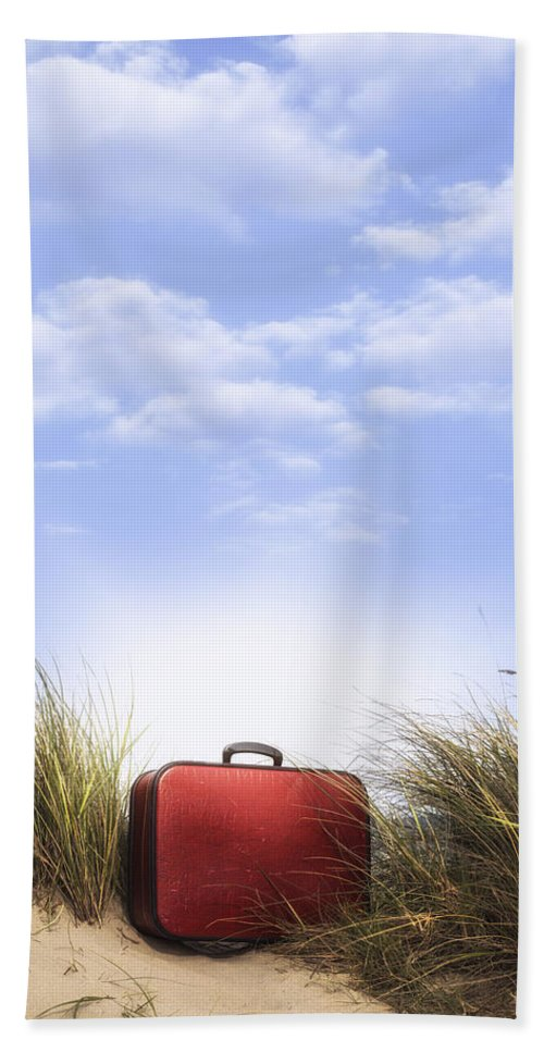 Dune Hand Towel featuring the photograph Waiting For The Next Trip by Joana Kruse