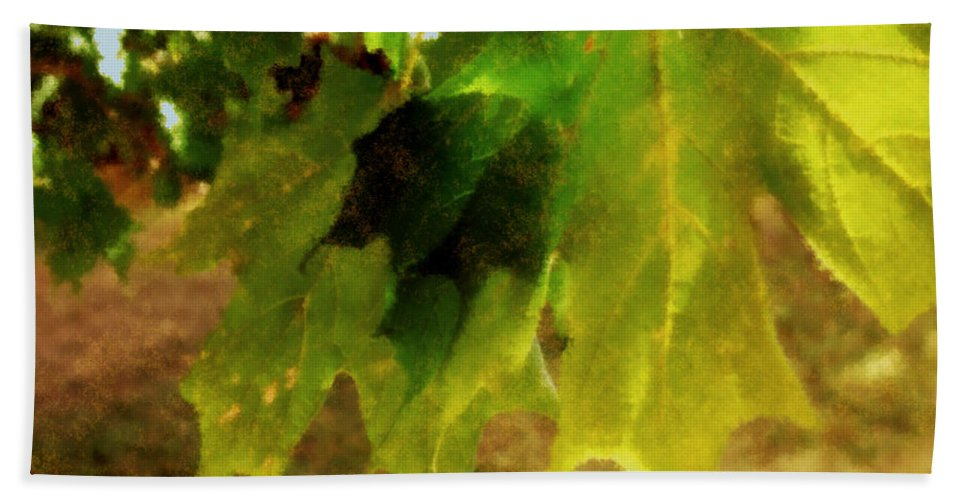 Autumn Bath Sheet featuring the painting Waiting For Winter by RC DeWinter