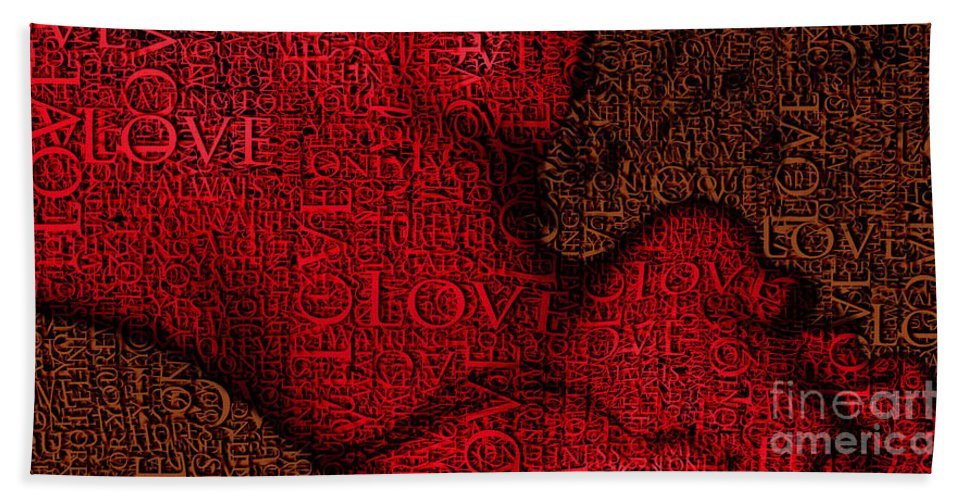 Abstract Hand Towel featuring the photograph Waiting With Love by Prar Kulasekara