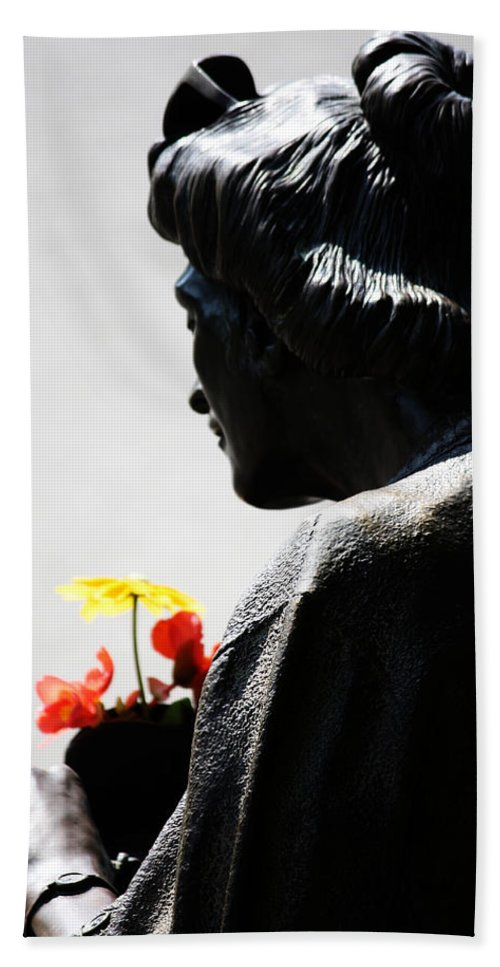 Street Photography Hand Towel featuring the photograph Walk To Grow by The Artist Project