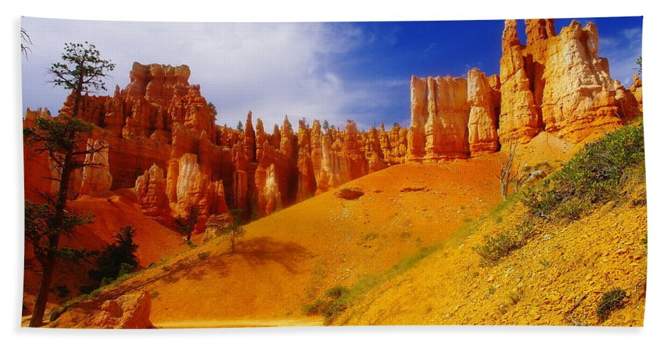 Bryce Canyon Hand Towel featuring the photograph Walking Bryce by Jeff Swan