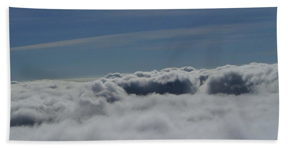 Clouds Bath Sheet featuring the photograph Walking The Clouds by Jeff Swan