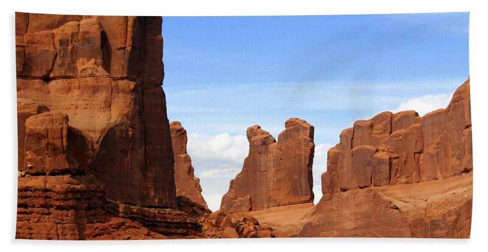 Southwest Art Bath Towel featuring the photograph Wall Street by Marty Koch