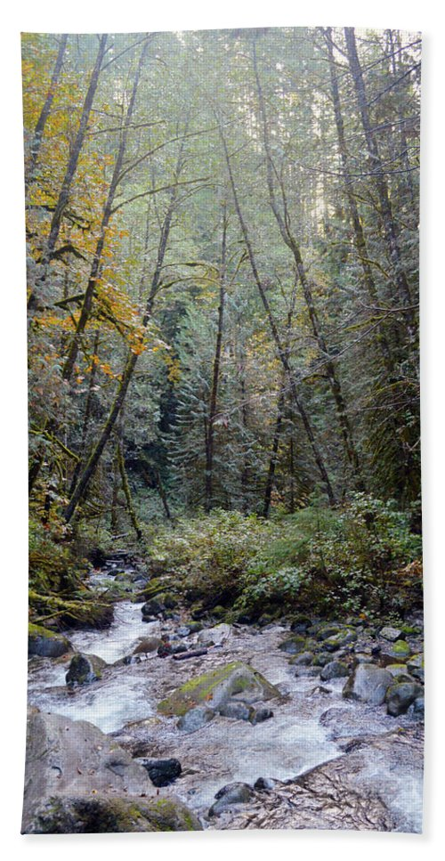 Bath Sheet featuring the photograph Wallace River by Brian O'Kelly