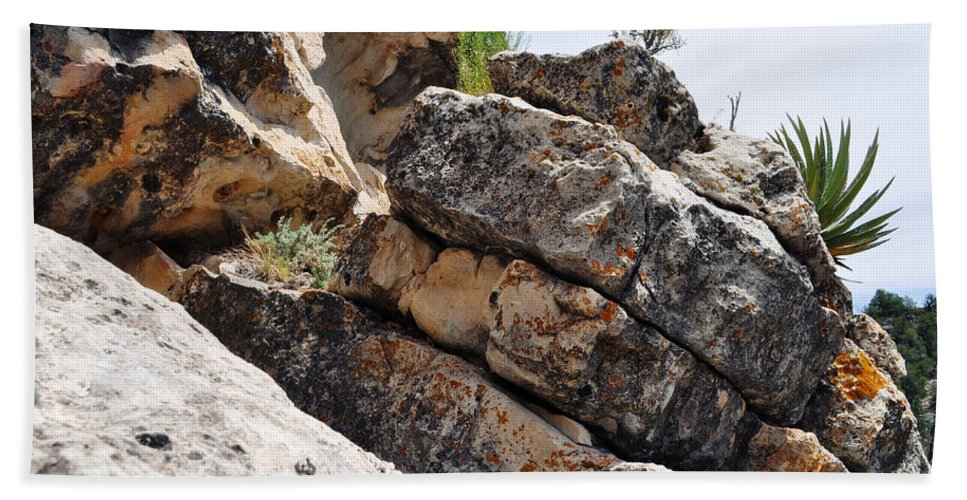 Walnut Canyon National Monument Hand Towel featuring the photograph Walnut Canyon Cliffs by Kyle Hanson