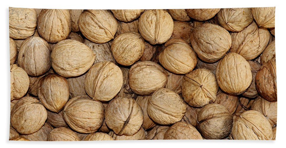 Autumn Hand Towel featuring the photograph Walnuts by Michal Boubin