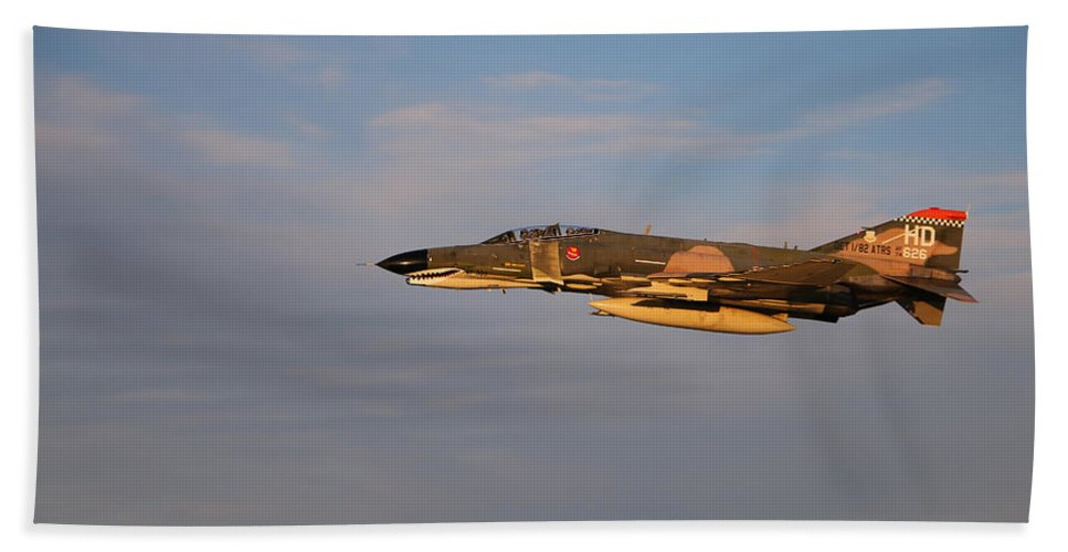 Eaa Oshkosh Hand Towel featuring the photograph Warbird 2 by Debbie Nobile