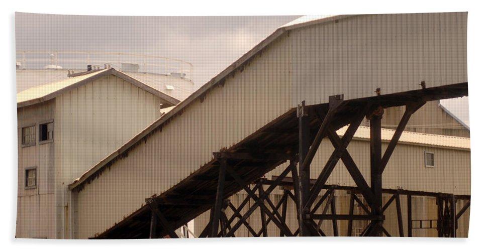 Urban Bath Sheet featuring the photograph Warehouse Passage by Jill Reger
