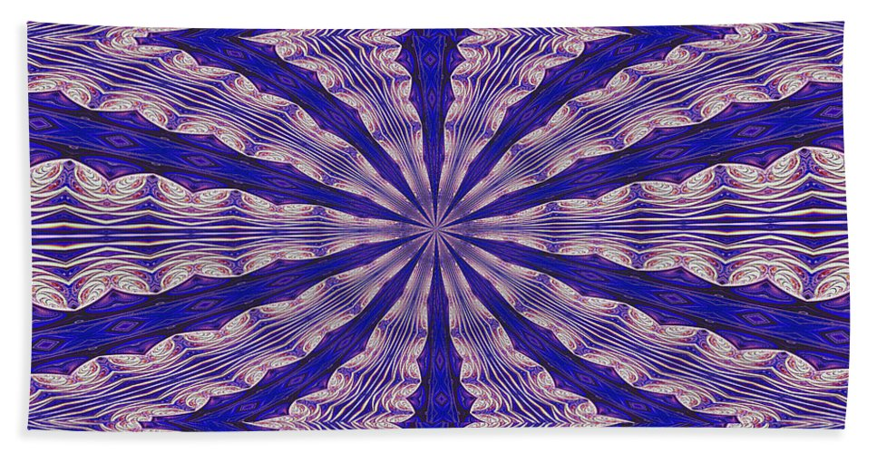Fractal Bath Sheet featuring the digital art Warped Minds Eye by Deborah Benoit