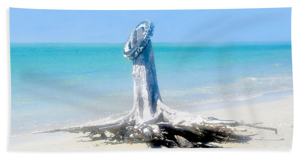 Tire Bath Sheet featuring the painting Washed Ashore by David Lee Thompson